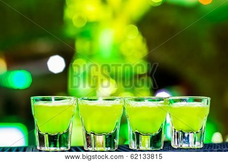 Alcohol green shots