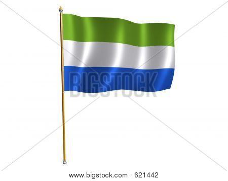 Sierra Leone Silk Flag
