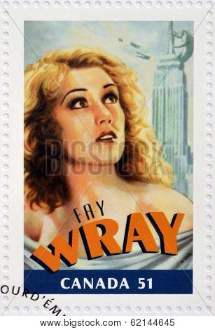 CANADA - CIRCA 2006: A stamp printed in Canada shows Fay Wray