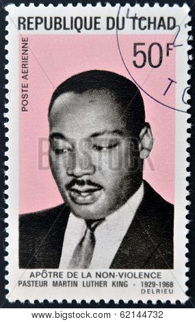 CHAD - CIRCA 1969: A stamp printed in cuba shows Martin Luther King circa 1969