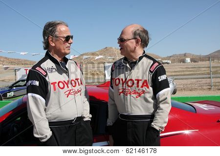 LOS ANGELES - MAR 15:  Eric Braeden, Doug Fregin at the Toyota Grand Prix of LB Pro-Celebrity Race Training at Willow Springs Speedway on March 15, 2014 in Rosamond, CA