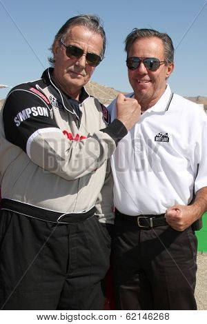LOS ANGELES - MAR 15:  Eric Braeden, Danny McKeever at the Toyota Grand Prix of Long Beach Pro-Celebrity Race Training at Willow Springs International Speedway on March 15, 2014 in Rosamond, CA