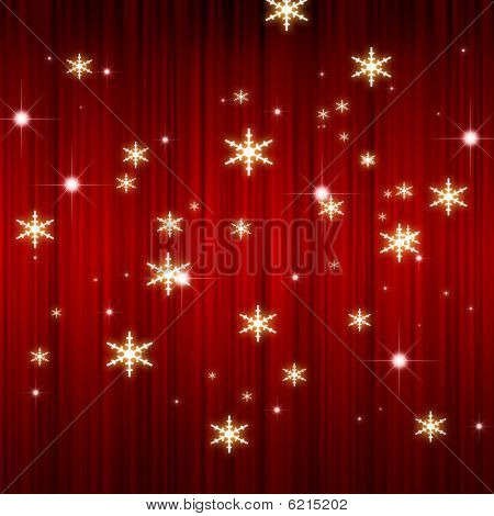 X'mas red curtain background