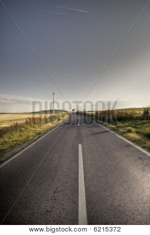Asphalt Road In Country