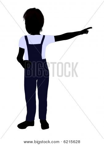 Caucasian Boy Illustration Silhouette