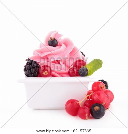 berry ice cream, frozen yogurt