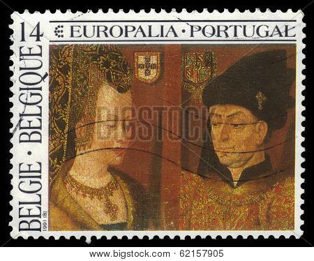 Isabella Of Portugal And Philip The Good By Artist Jan Van Eyck