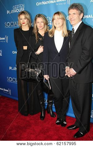 LOS ANGELES - MAR 22: Cody Horn; Cassidy Horn; Cindy Horn, Alan Horn at the Geffen Playhouse's Annual 'Backstage At The Geffen' Gala at Geffen Playhouse on March 22, 2014 in Los Angeles, California
