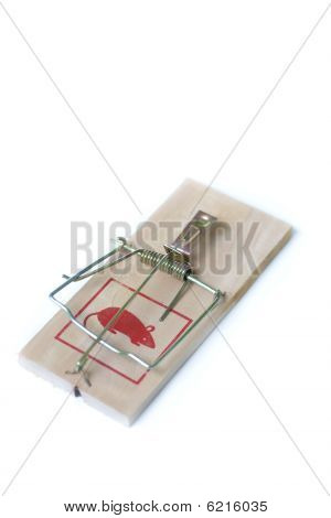 Large Mouse Trap isolated on white