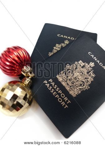 Christmas Ornaments and Passports