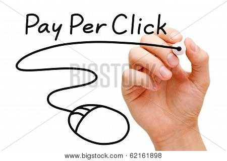 Pay Per Click Mouse Concept