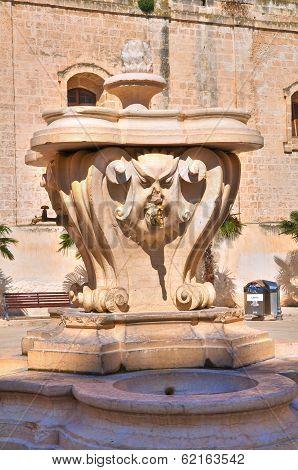 Historical fountain. Monopoli. Puglia. Italy.