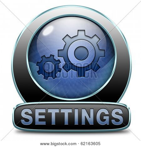 settings Cogwheel gear mechanism vector change or reset setting icon