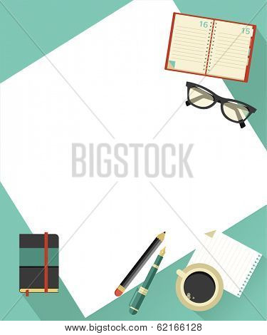 Business background with hands, vector