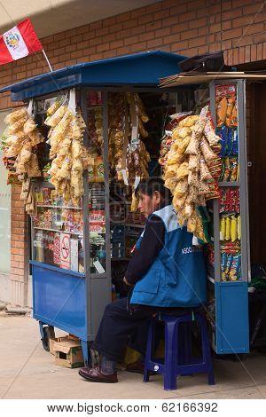 Snack Stand in Lima, Peru