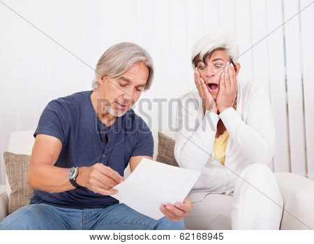 Senior Couple Discussing A Document