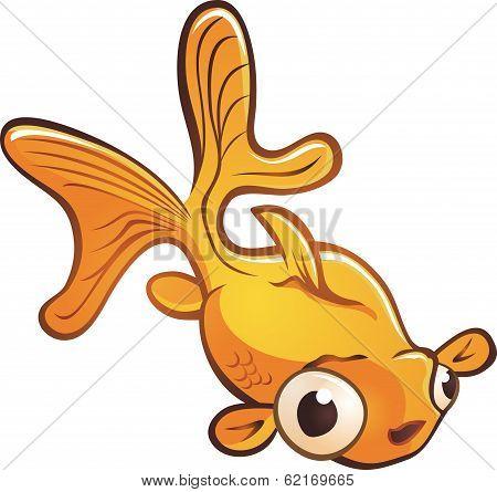 Goldfish Pet Cartoon Character