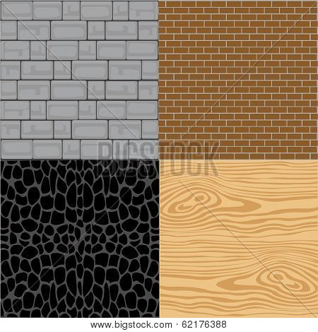 Wall from miscellaneous material