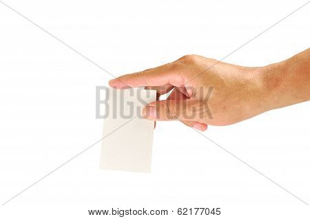 Hand With Ballot Card