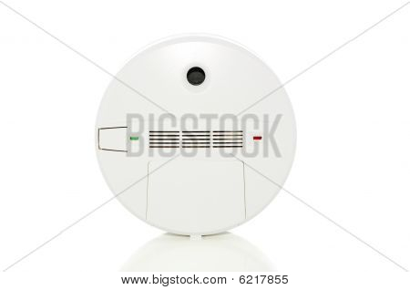 Alarm On White With Clipping Path