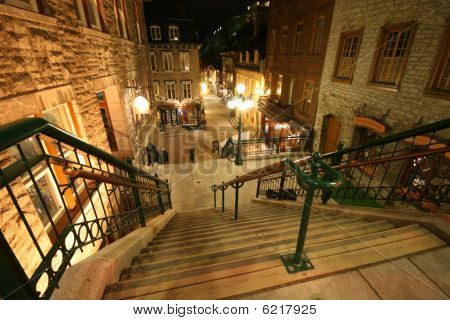 Night View of Old Quebec City