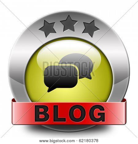 Blog online web log on personal website follow daily blogging