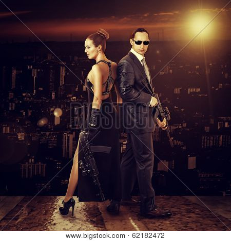 Fashion Photo Of Young Beautiful Couple
