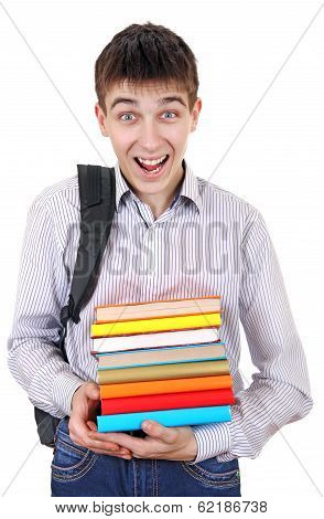 Happy Student With The Books