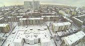 Residential district Bogorodskoe at winter in Moscow, Russia. Aerial view