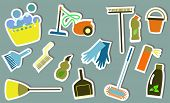 picture of dust-bin  - cleaning tools - JPG