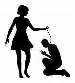 pic of domina  - Woman treating man like slave - JPG