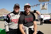 LOS ANGELES - MAR 15:  Brett Davern, Max Thieriot at the Toyota Grand Prix of Long Beach Pro-Celebri
