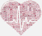 image of word charity  - Tag or word cloud blood donation related - JPG