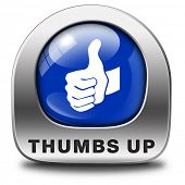 stock photo of job well done  - thumbs up Good and excellent work - JPG