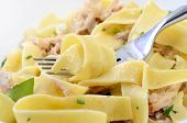 pappardelle with a rabbit and cream macro