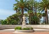 MONTE CARLO, MONACO - JULY 13, 2013: Bust of famous french composer Hector Berlioz in garden near Mo