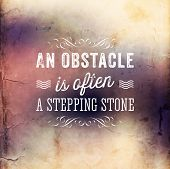 pic of stepping stones  - Quote Typographical Poster - JPG