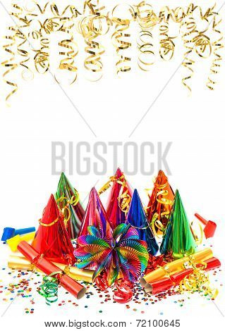 Carnival Party Decoration Garlands, Streamer And Confetti