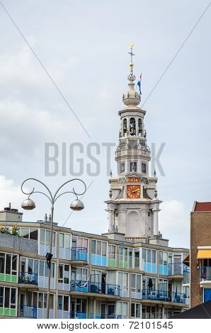 City View Of Old Church Of Amsterdam, Holland