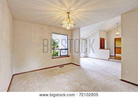 Empty House Interior With Open Floor