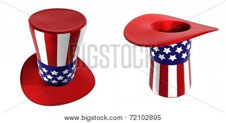 3D Uncle Sam Hats