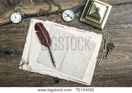 Retro Office Tools And Writing Accessories