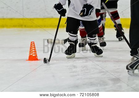 Youth Ice Hockey Team At Practice