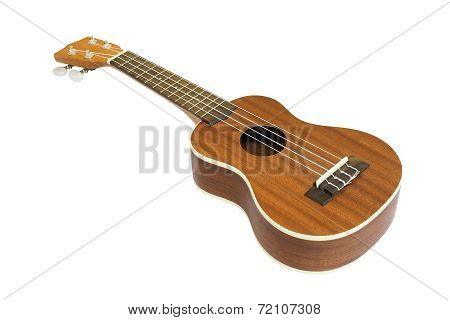 Ukulele Guitar Isolated On White Background