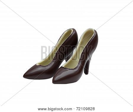 Image of mixed chocolate shoes, close-up