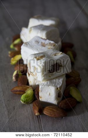 Close Up of Nougat on a Table