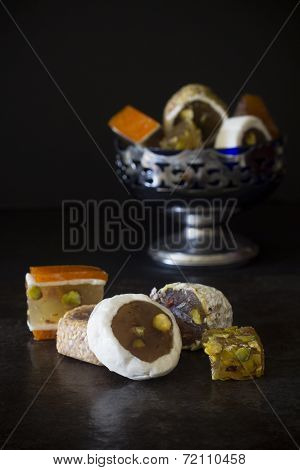 Turkish Delight in a Bowl - Selective Focus
