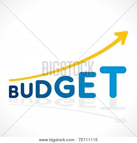 creative budget word growth graph vector