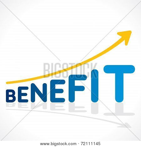 creative benefit word growth graph vector