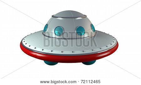 UFO retro tin toy